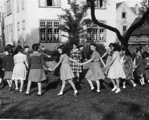 Souvenir de l'inauguration des Cigognes en 1948