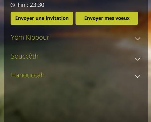 Envoyer voeux invitation application mobile Les Cigognes